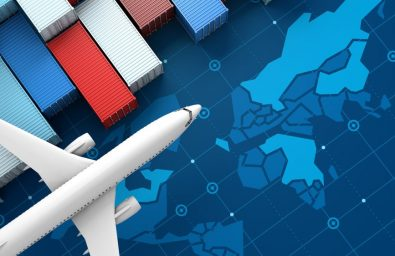 container-cargo-ship-airplane-import-export-business-logistic-digital-world-map