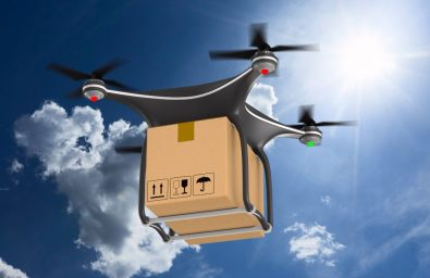 quadrocopter-with-cargo-box-clouds-sky-3d-illustration